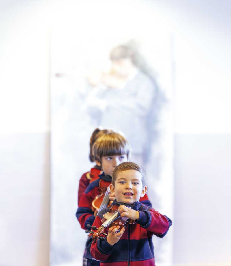 Alumnos de Infantil del colegio Juan Pablo II