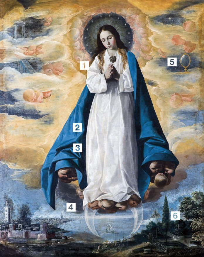 Inmaculada-Niña-(Zurbaran)-SiguenzaLa Purísima