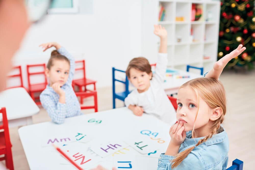 Niños en aula